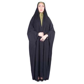 چادر دانشجویی شهر حجاب مدل بدون مچ کرپ کریستال کد 8011