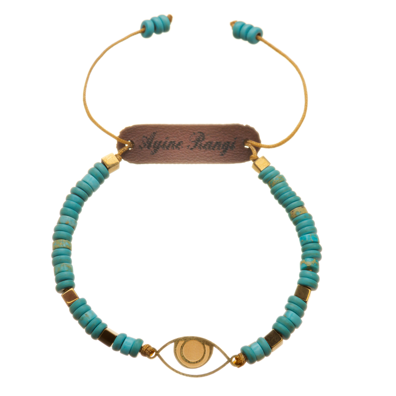 دستبند طلا 18 عیار آیینه رنگی طرح چشم کد AR-A05