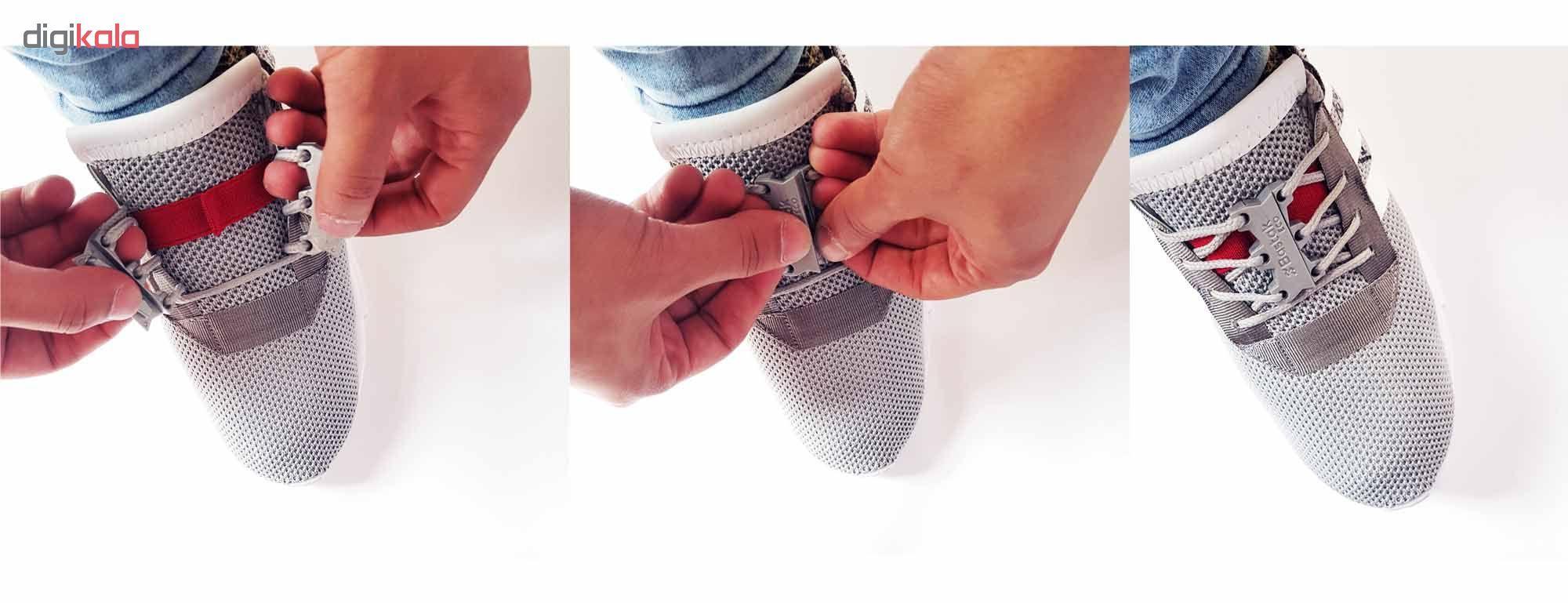 بند کفش مغناطیسی بستاک مدل اِکو E112 رنگ قهوه ای main 1 12