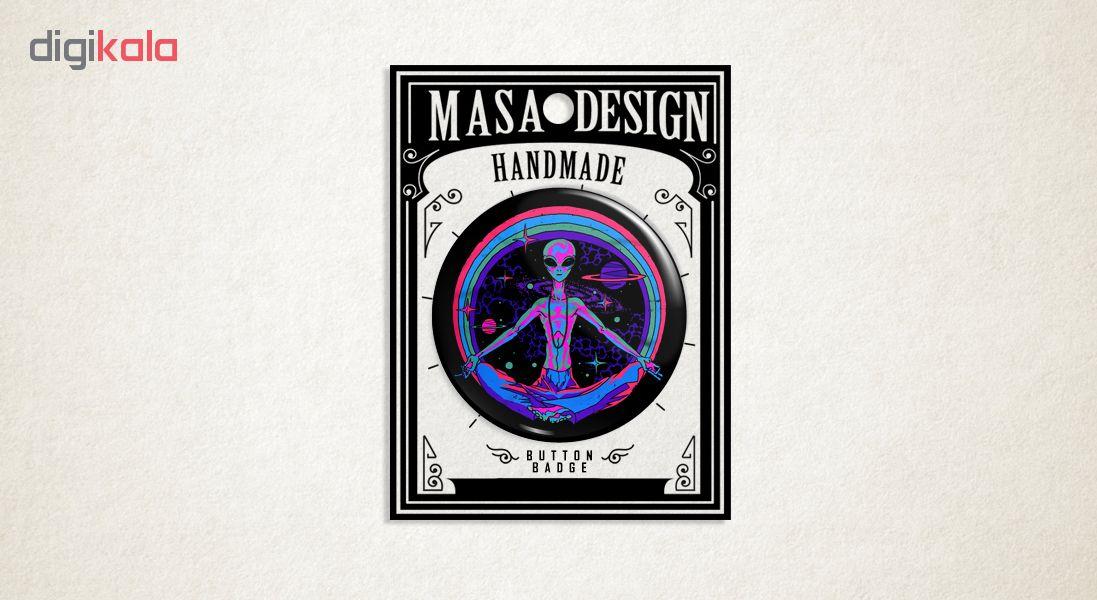 پیکسل ماسا دیزاین طرح آدم فضایی یوگا ستاره سیاره کد ASB02