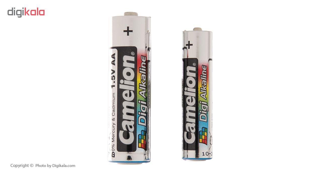 باتری کملیون مدل Digi Alkaline بسته 8 عددی به همراه یک چراغ قوه main 1 5