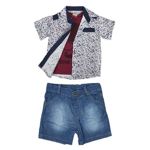 ست سه تکه لباس نوزادی پسرانه گونر کد B2728