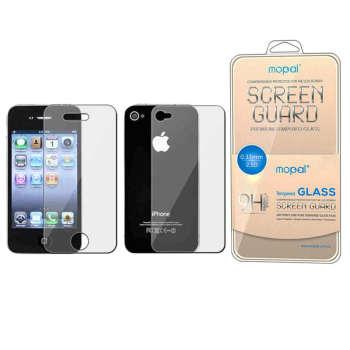 محافظ صفحه نمایش و پشت گوشی موپال مدل ml-1 مناسب برای گوشی موبایل اپل Iphone 4/4S