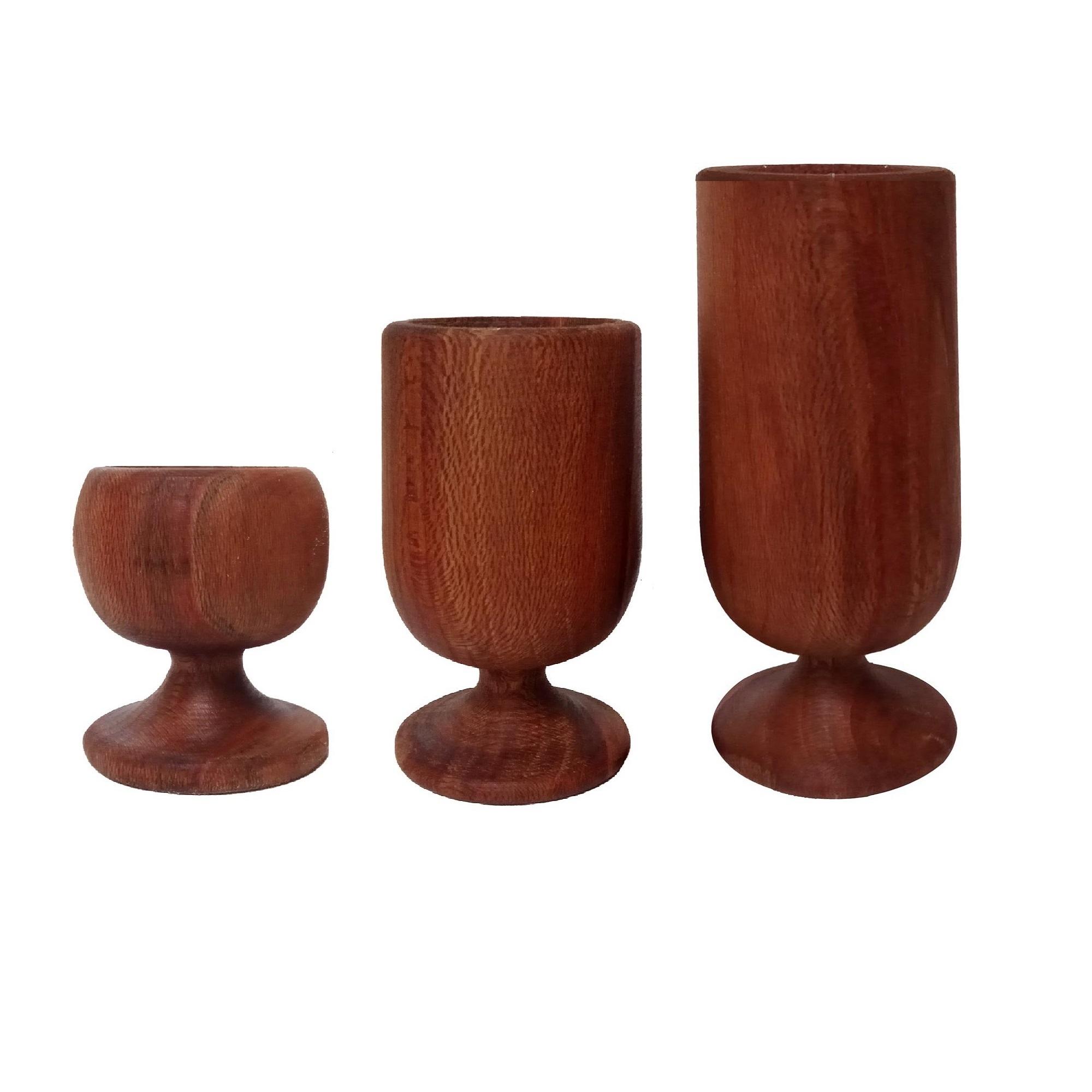 شمعدان چوبی چوبیس کد 4_109 مجموعه 3 عددی