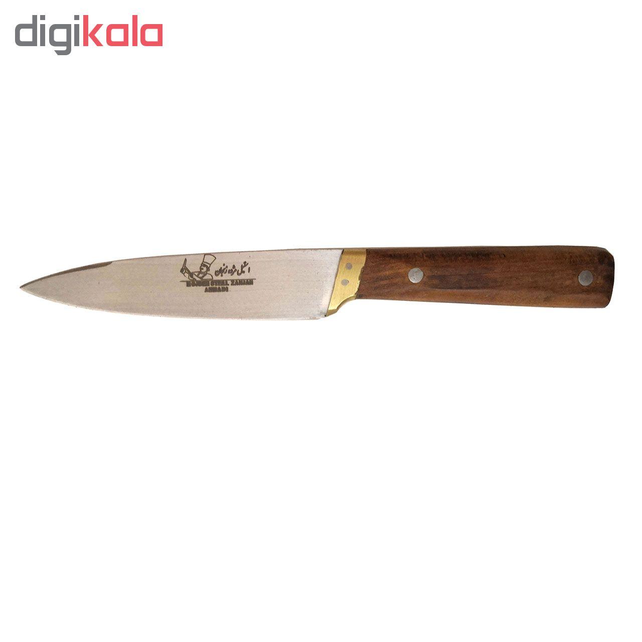 چاقو آشپزخانه استیل مژده زنجان کد 4654565 main 1 1