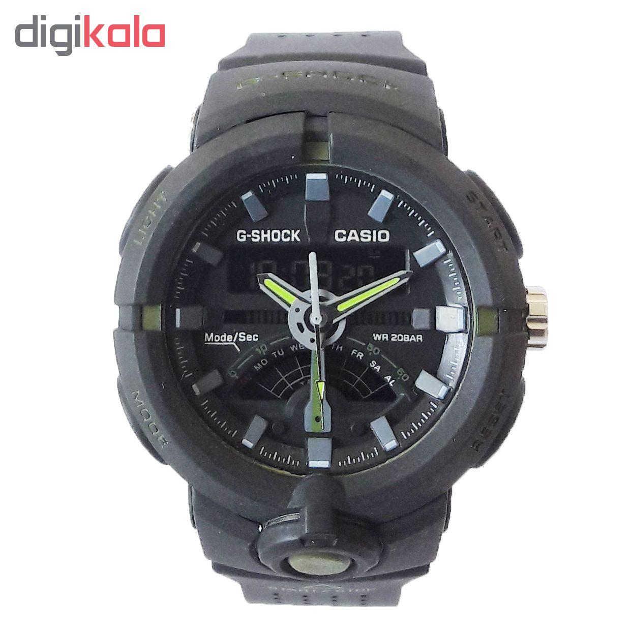 ساعت مچی دیجیتال مردانه مدل G-SH 1122 / ME-SAB به همراه دستمال مخصوص نانو برند کلیر واچ