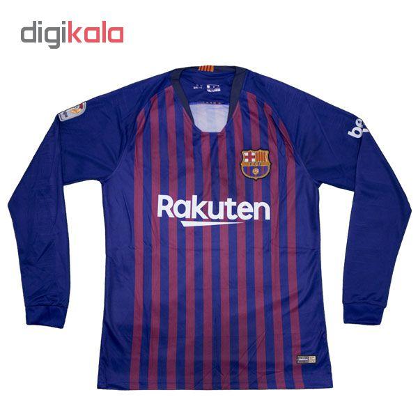 تی شرت ورزشی مردانه طرح بارسلونا کد 46615