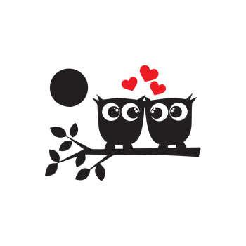 استیکر کلید پریز طرح پرنده های عاشق کد ۰۲