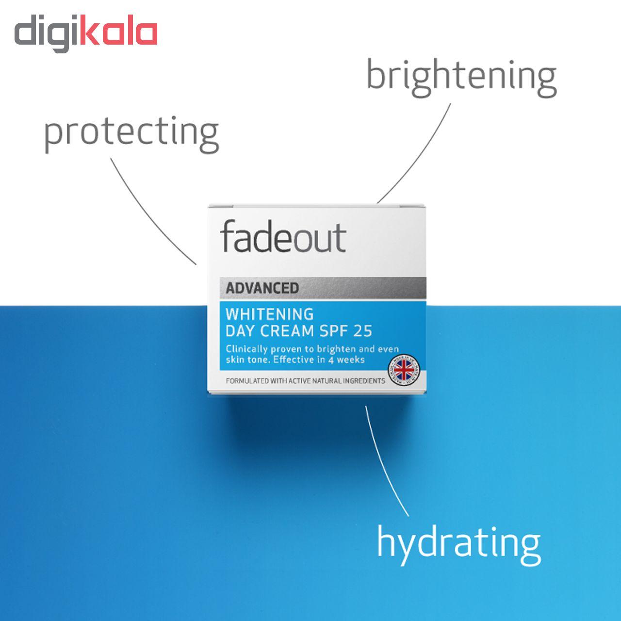 کرم ضد لک و روشن کننده  روز فیداوت با SPF25 مدلWHITENING  حجم 50 میلی لیتر