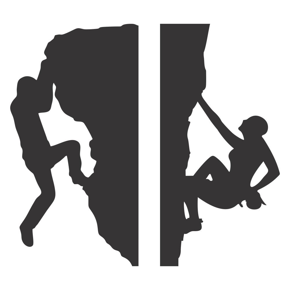 استیکر فراگراف کلید و پریز چاپ پارسیان طرح زن و مرد صخره نورد بسته دو عددی