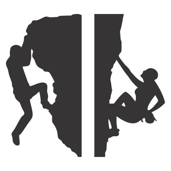 استیکر کلید و پریز چاپ پارسیان طرح زن و مرد صخره نورد بسته دو عددی
