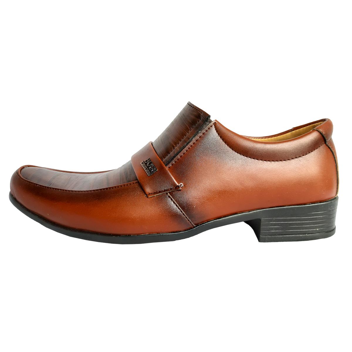 کفش مردانه مدل fafix-101 رنگ عسلی