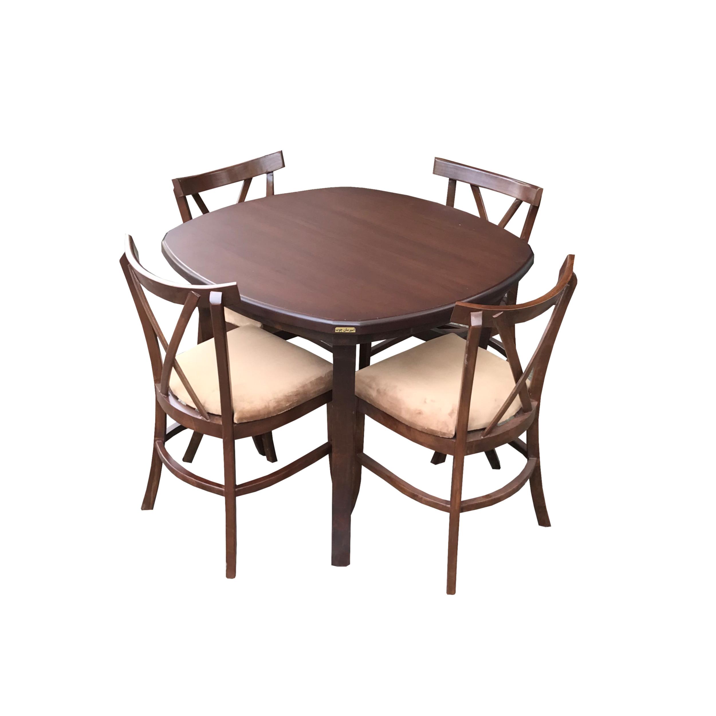 میز و صندلی ناهار خوری اسپرسان چوب مدل SM28
