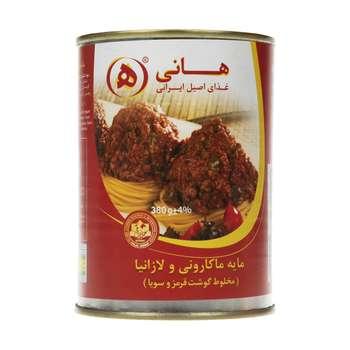مایه ماکارونی مخلوط گوشت قرمز و سویا هانی مقدار 380 گرم