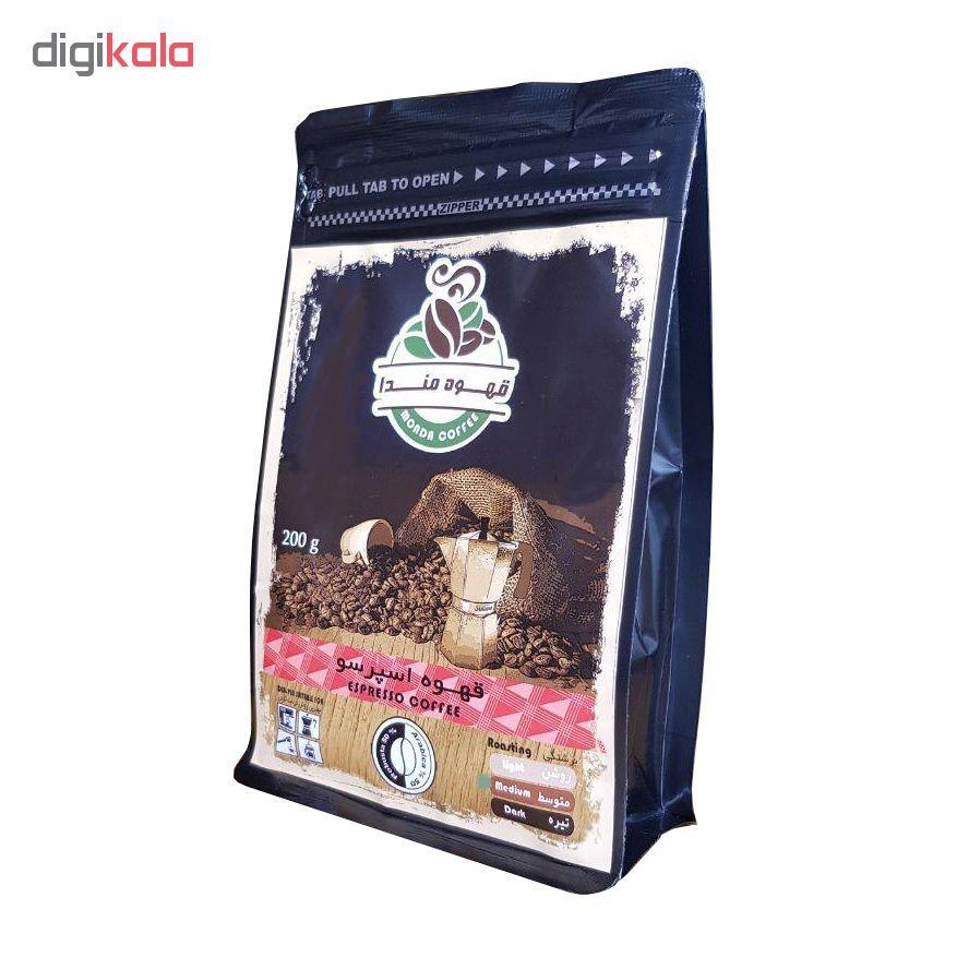 پودر قهوه اسپرسو مندا مقدار200 گرم
