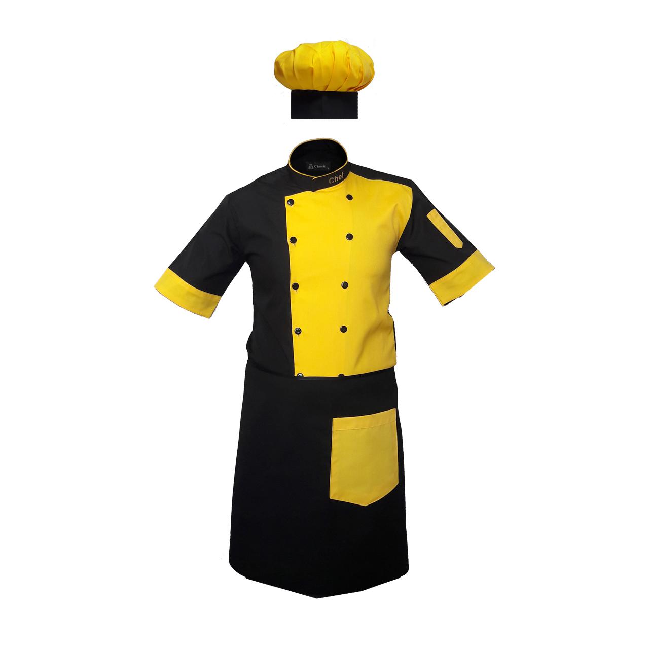 تصویر لباس کار مدل A32 رنگ زرد