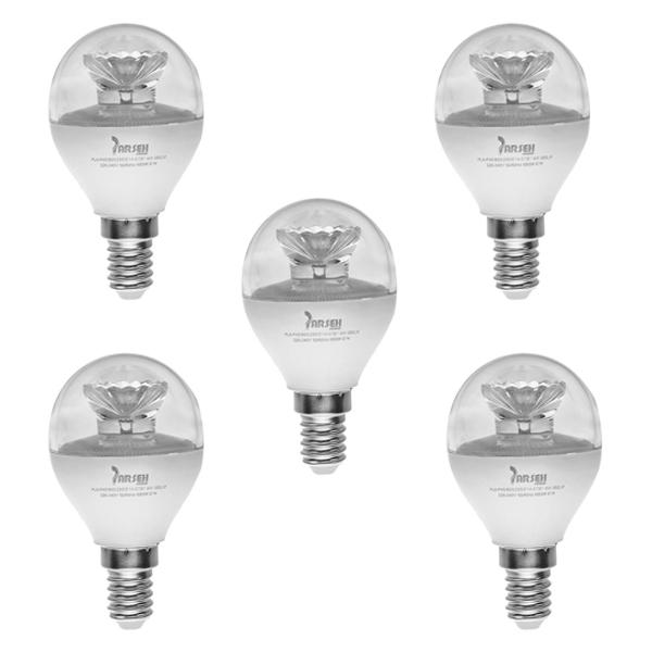 لامپ ال ای دی 6 وات پارسه شید مدل PL6-P45 پایه E14 بسته 5 عددی