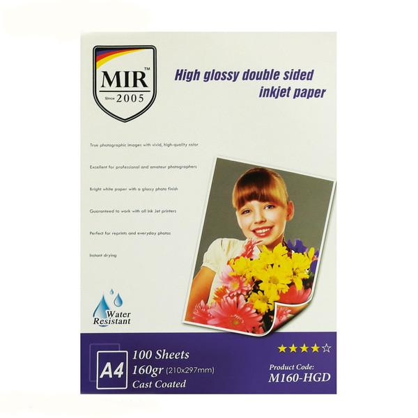 کاغذ چاپ عکس گلاسه میر مدل M160-HGD سایز A4 بسته 100 عددی