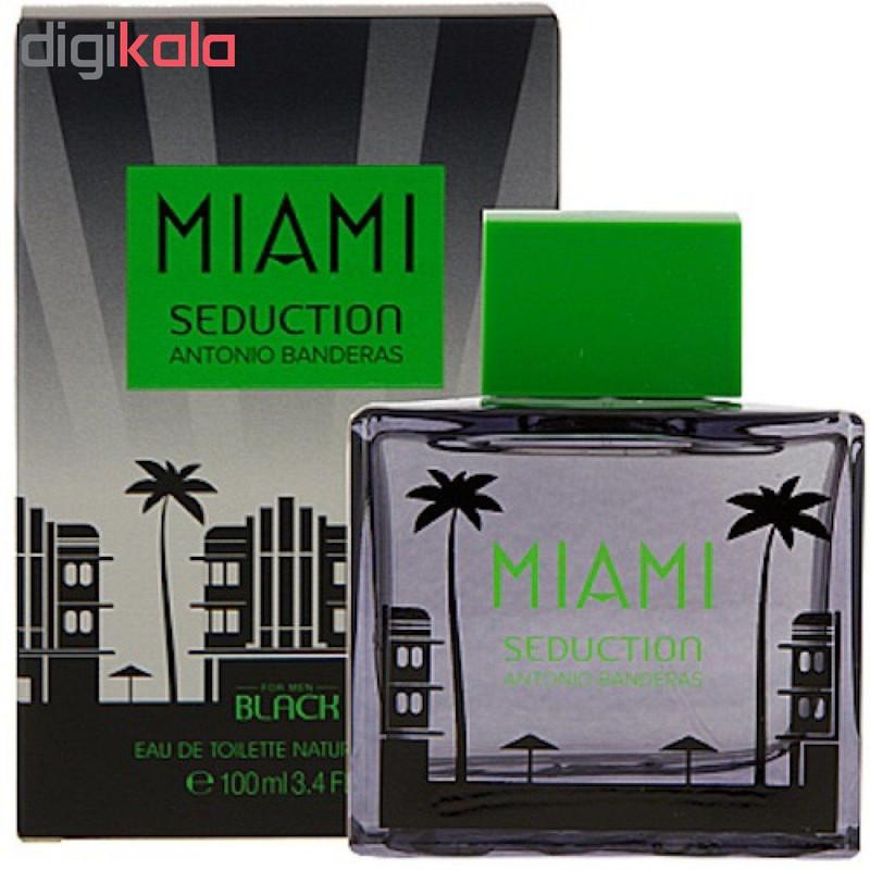 ادو تویلت مردانه آنتونیو باندراس مدل Miami Seduction Black حجم 100 میلی لیتر