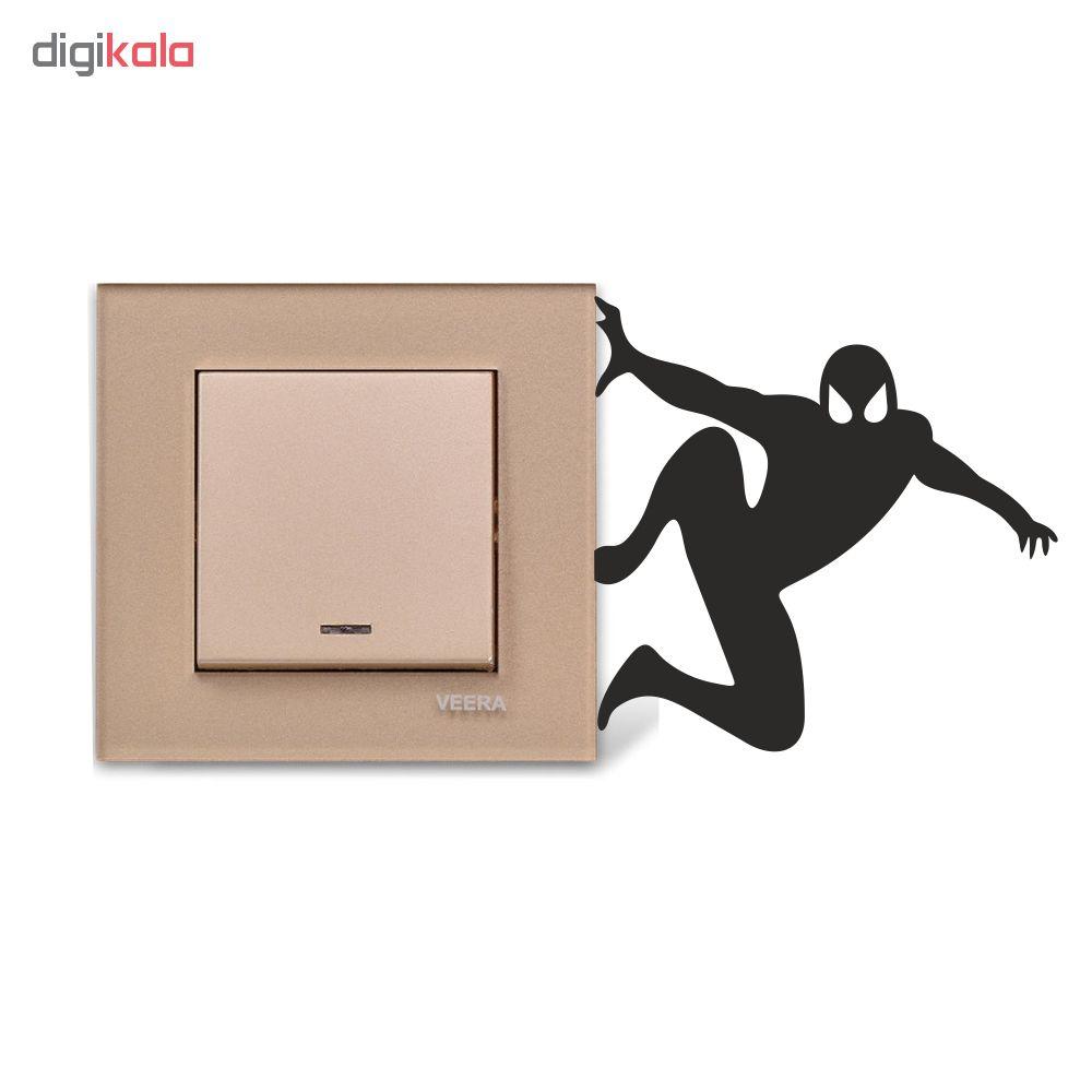 استیکر فراگراف کلید و پریز چاپ پارسیان طرح مرد عنکبوتی بسته دو عددی
