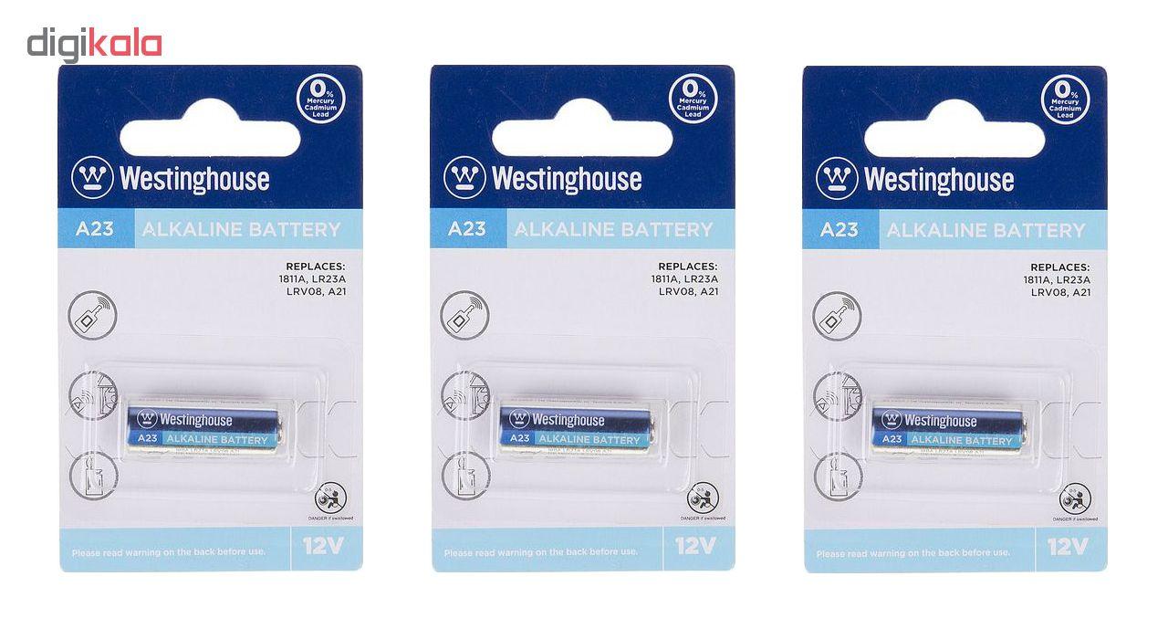 باتری نیم قلمی وستینگهاوس مدل 23A بسته 3 عددی main 1 1