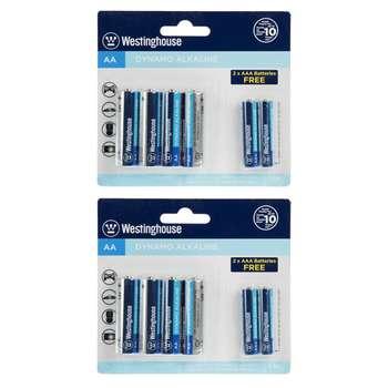 باتری قلمی و نیم قلمی وستینگهاوس کد 2210001 مجموعه 12 عددی