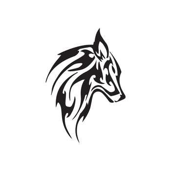 استیکر لپ تاپ طرح Wolfy کد 01