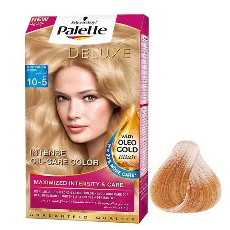 کیت رنگ مو پلت سری DELUXE شماره 5-10 حجم 50 میلی لیتر رنگ طلایی