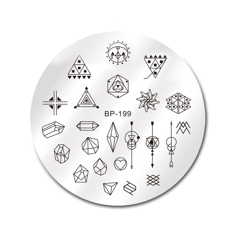 شابلون طراحی ناخن برن پرتی مدل 199 BP