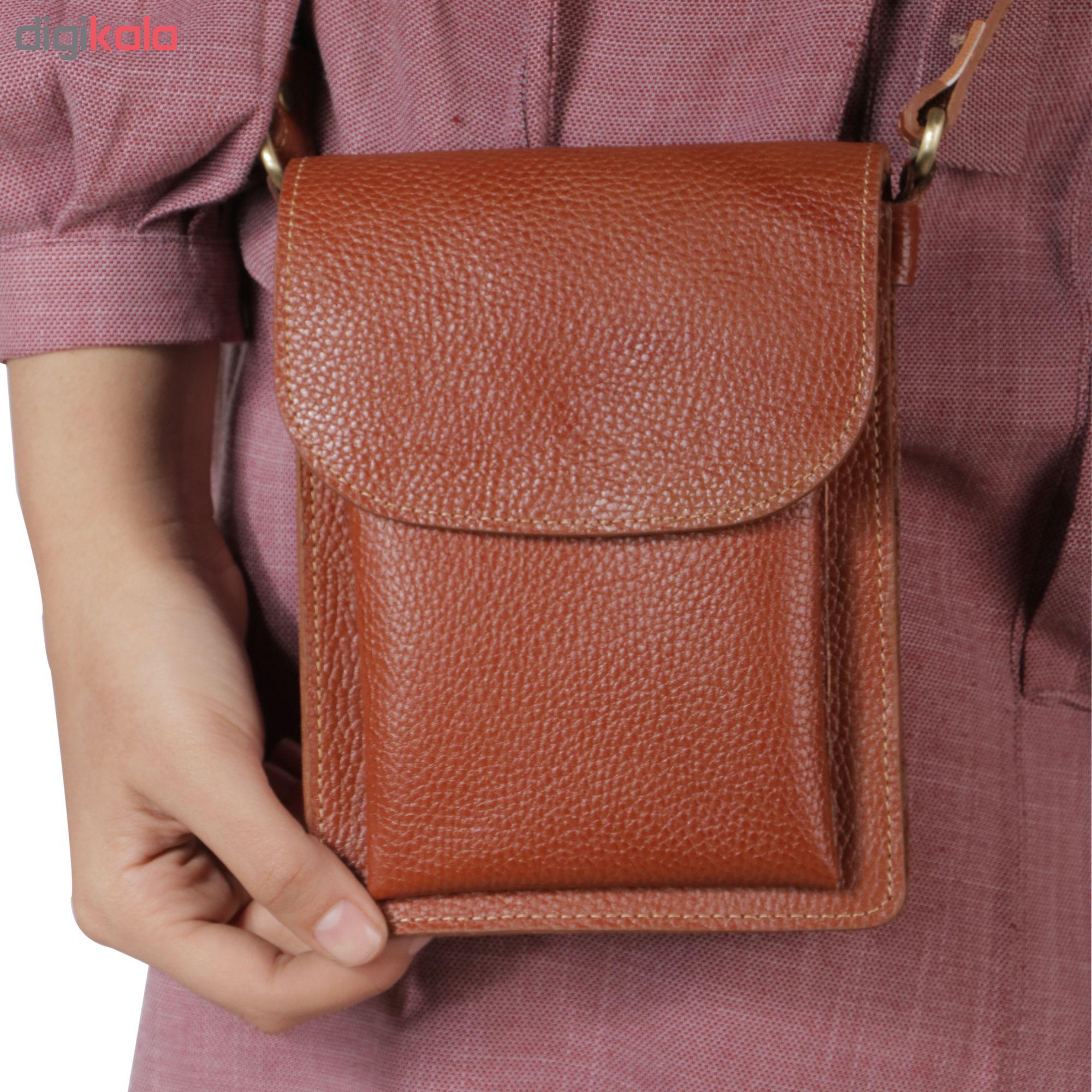 کیف دوشی مدل fantesi رنگ عسلی