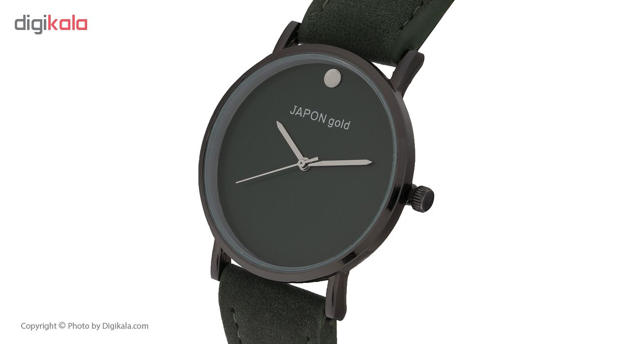 ساعت مچی عقربه ای زنانه ژاپن گل مدل ja-876