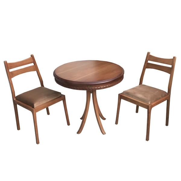 میز و صندلی ناهار خوری 2 نفره اسپرسان چوب مدل sm24