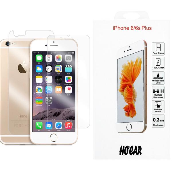 محافظ شیشه ای پشت و روی صفحه نمایش هوکار گلس پلاس مدل Safe Glass مناسب برای گوشی اپل آیفون iPhone 6 plus/6s plus