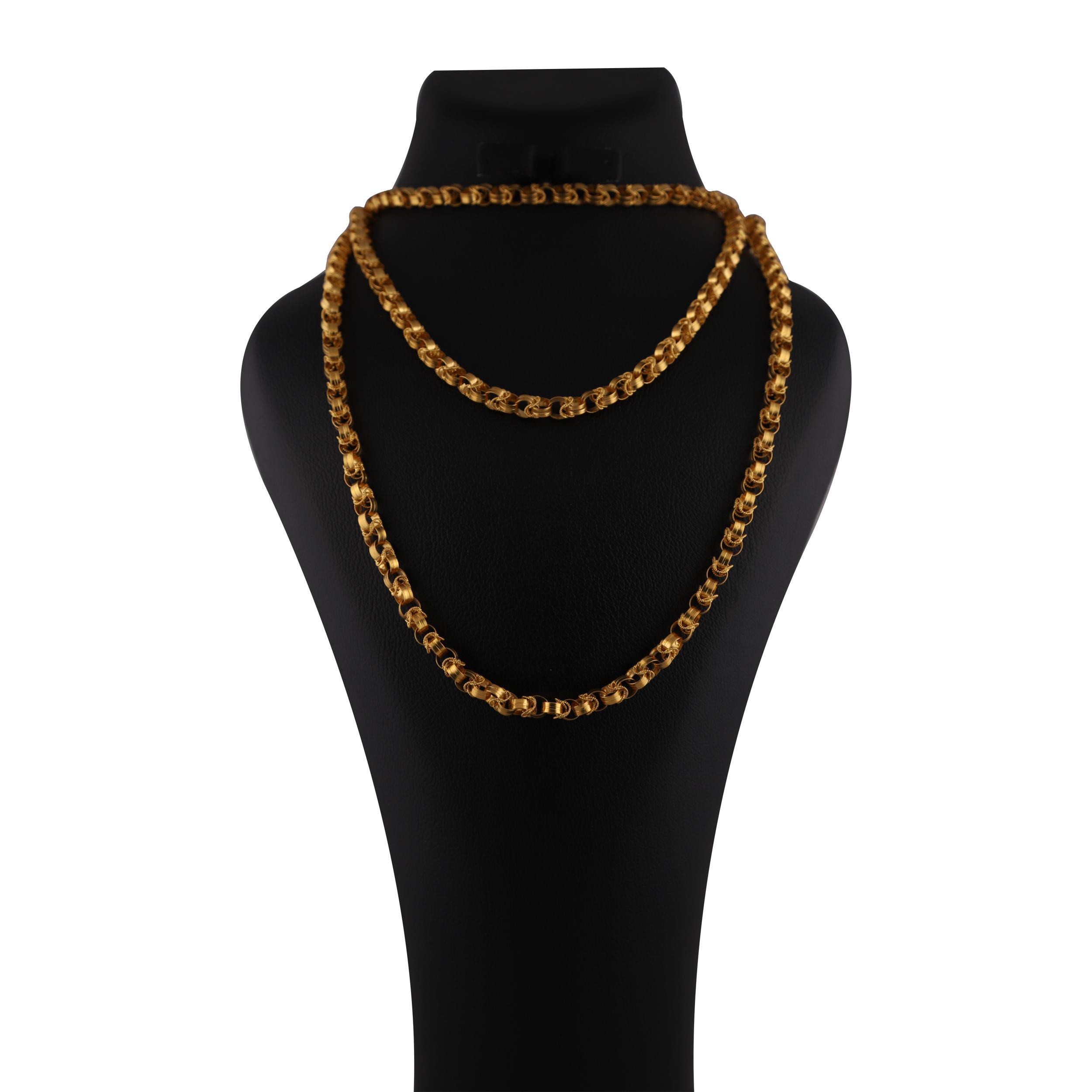 قیمت زنجیر طلا 18 عیار گوی گالری مدل G306