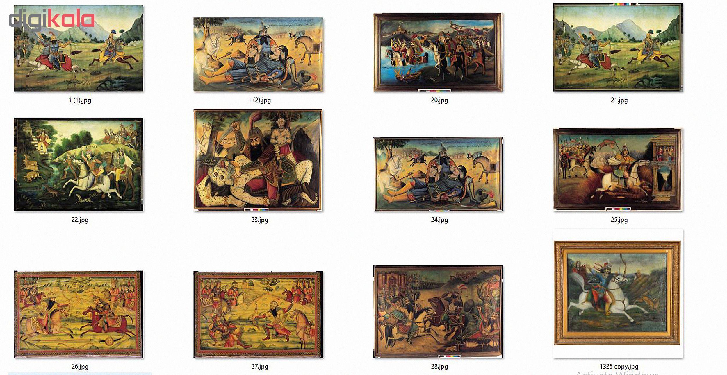 مجموعه تصاویر آثار پیشگامان نقاشی قهوه خانه ای