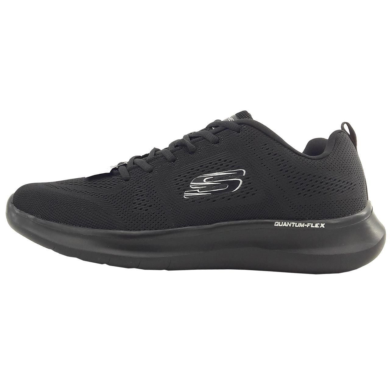 کفش مخصوص پیاده روی زنانه اسکچرز مدل Quantum-flex black