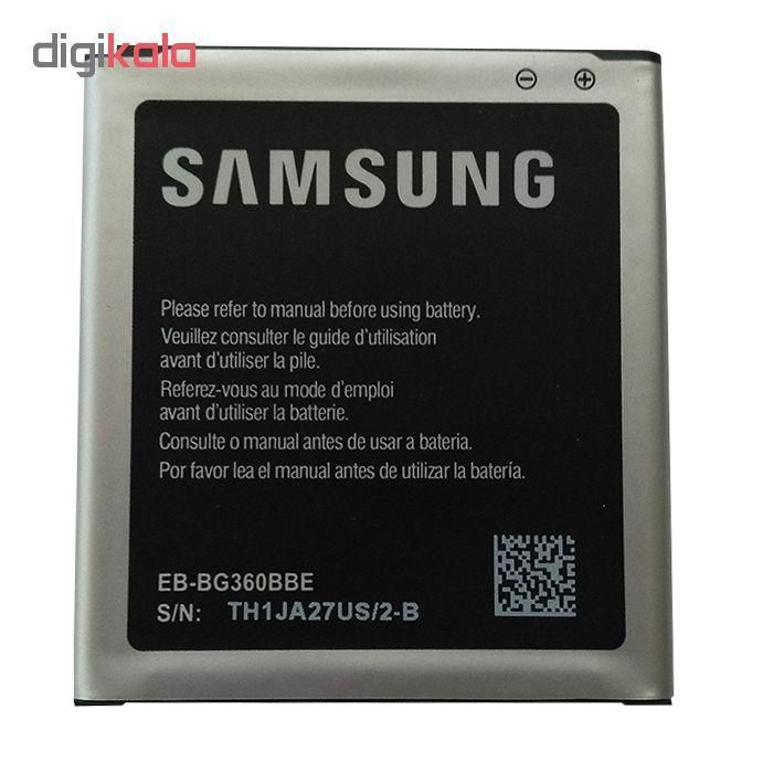باتری موبایل مدل EB-BG360BBE ظرفیت 2000 میلی آمپر ساعت مناسب برای گوشی سامسونگ 2015 galaxy J2 main 1 1