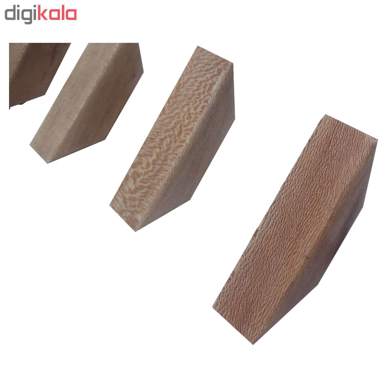 قلاب آویز لباس رخت اویز چوبی چوبیس کد ۷۰۲ بسته ۶ عددی main 1 1