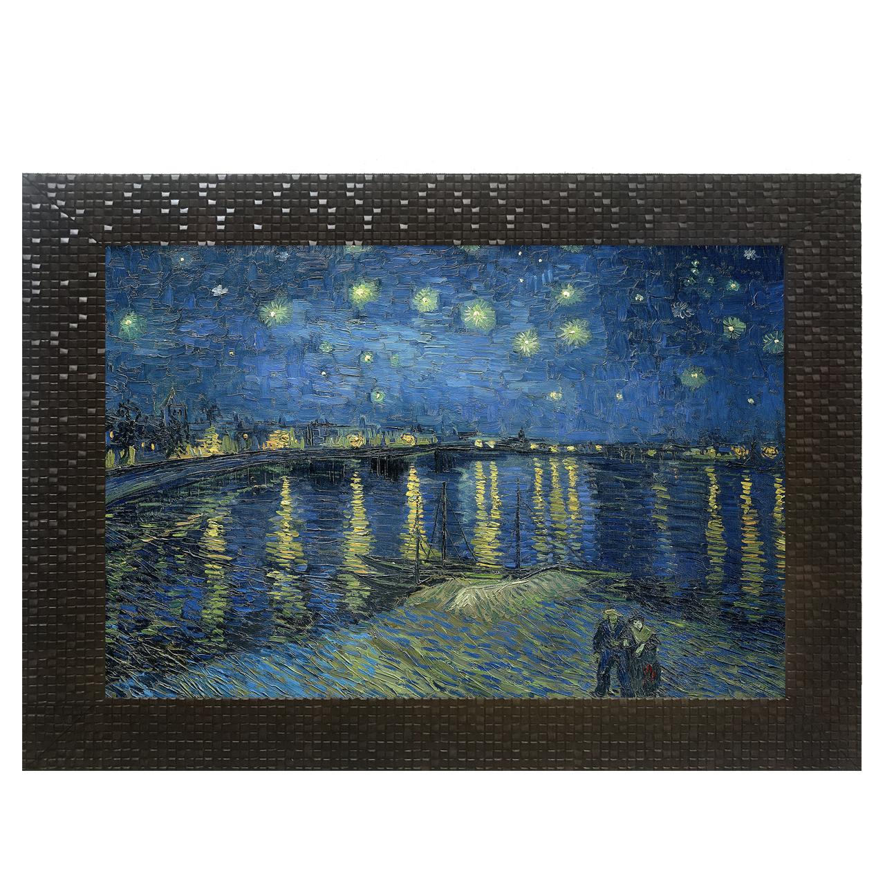 تابلو چاپ سی طرح شب پر ستاره بر فراز رن کد KL042