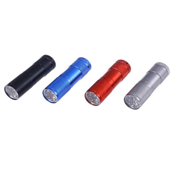 چراغ قوه UV فلیکسبل مدل UV blacklight 9 LED مجموعه چهار عددی