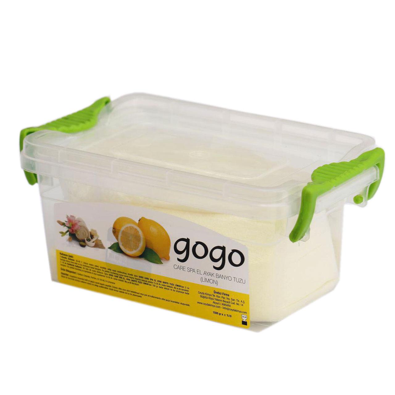 نمک حمام دریایی گوگو مدل lemon وزن 1500 گرم