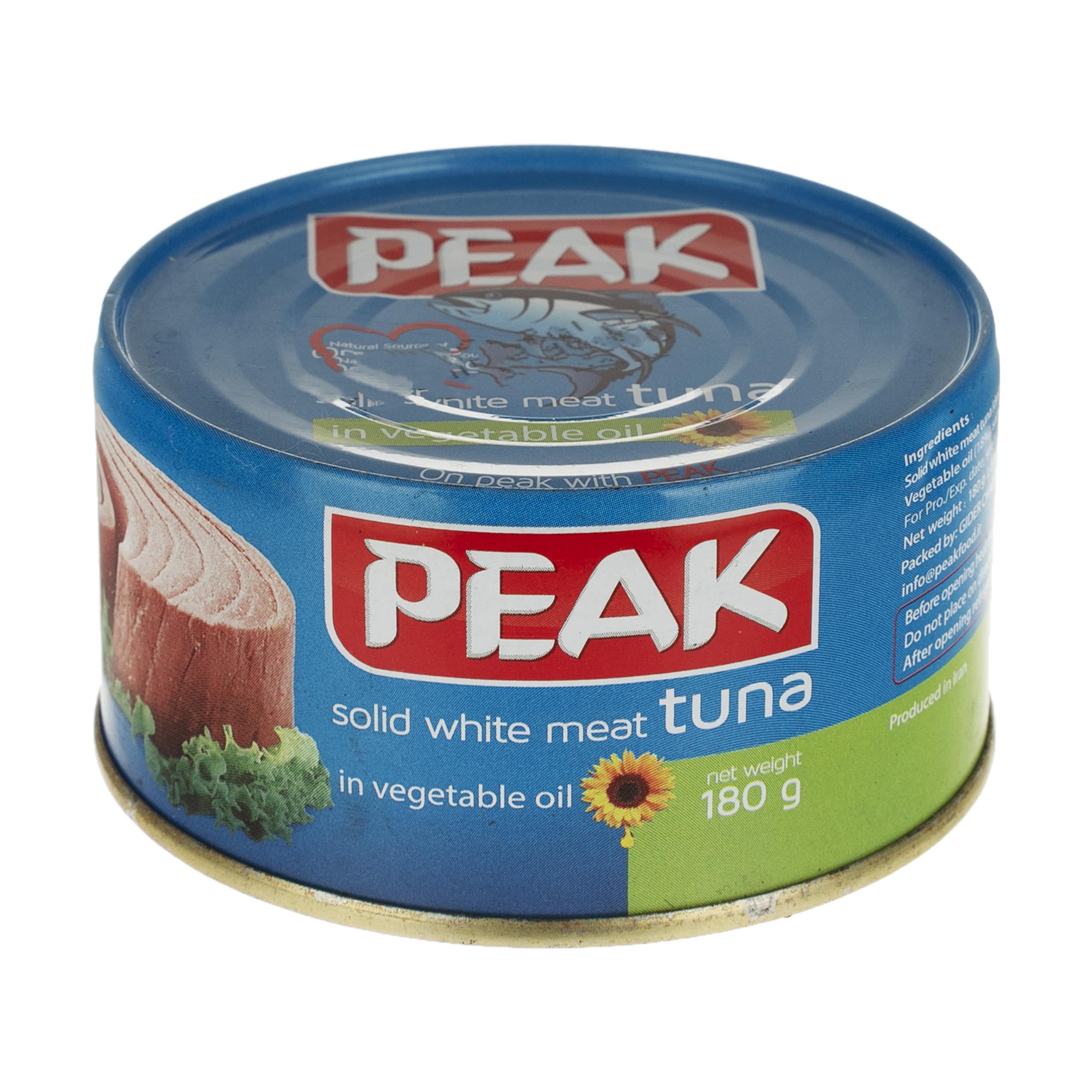 فیله ماهی تن در روغن گیاهی پیک - 180 گرم
