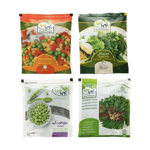 پک سبزیجات منجمد نوبر سبز مقدار 1600 گرم