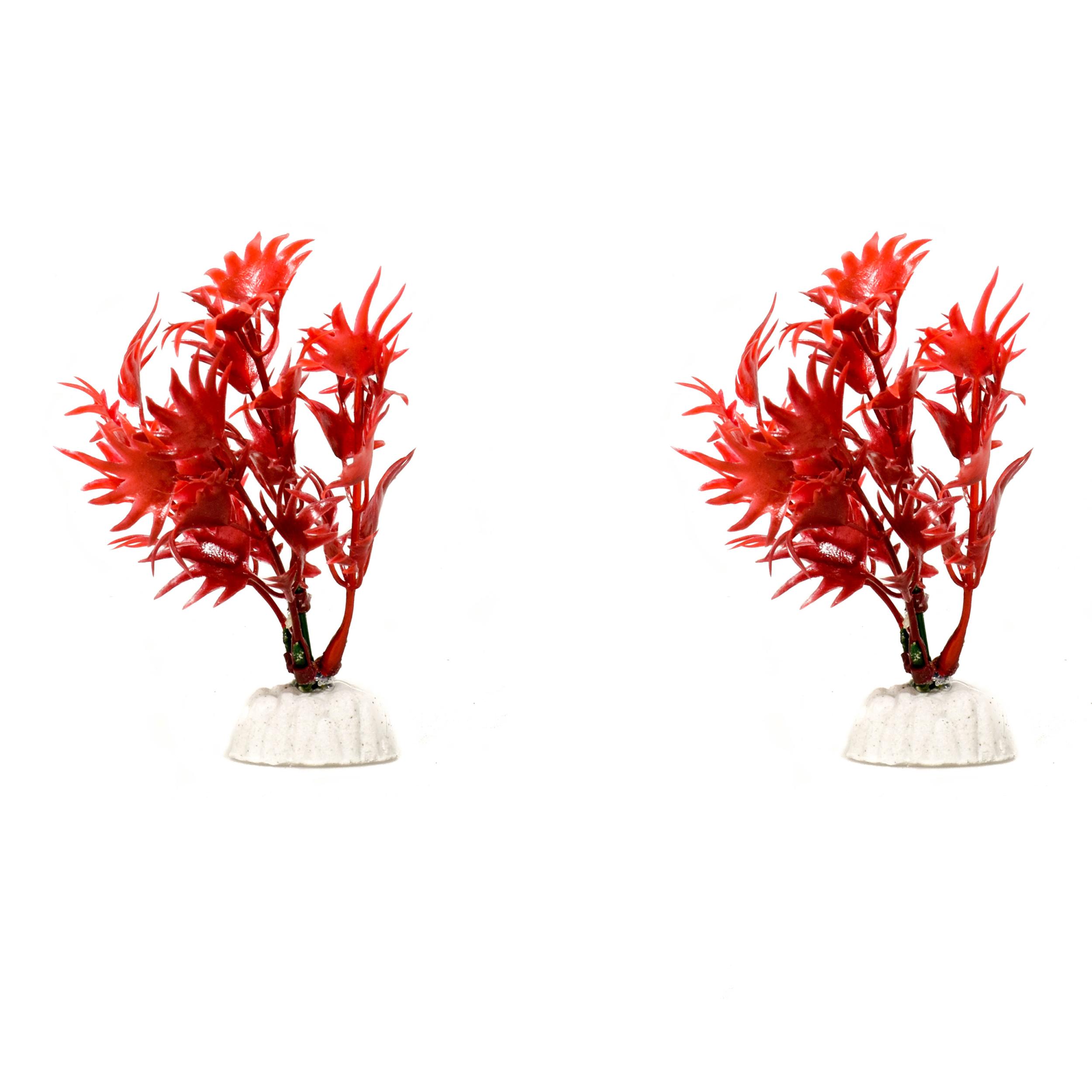 گیاه مصنوعی آکواریوم کد 81210 بسته 2 عددی