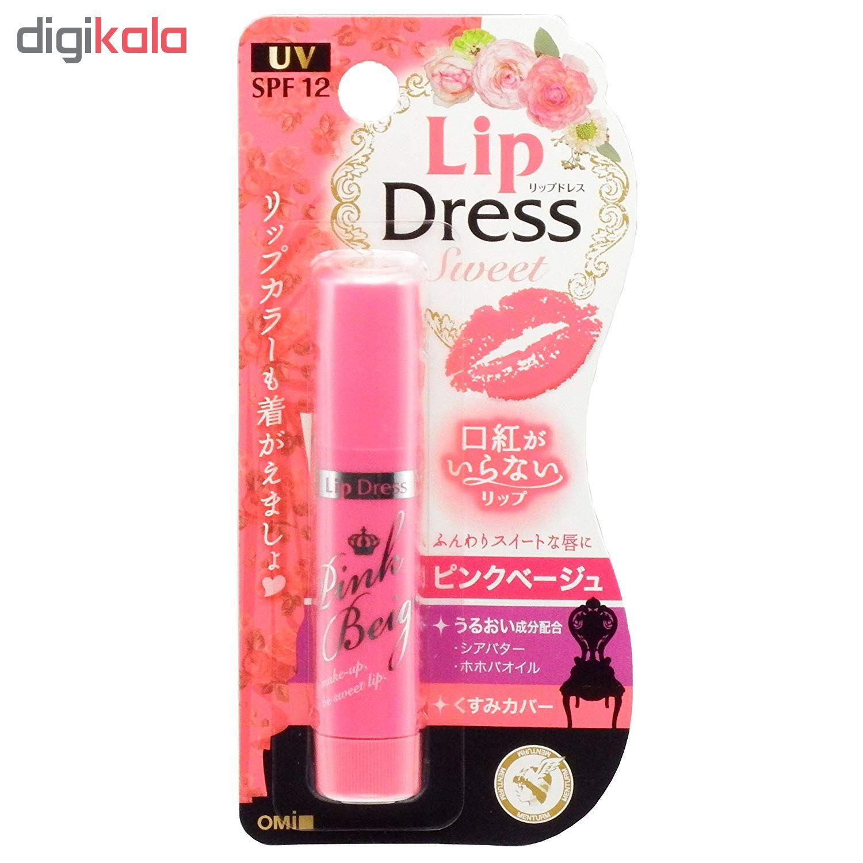 بالم لب امی مدل Lip Dress کد 102 رنگ صورتی بژ