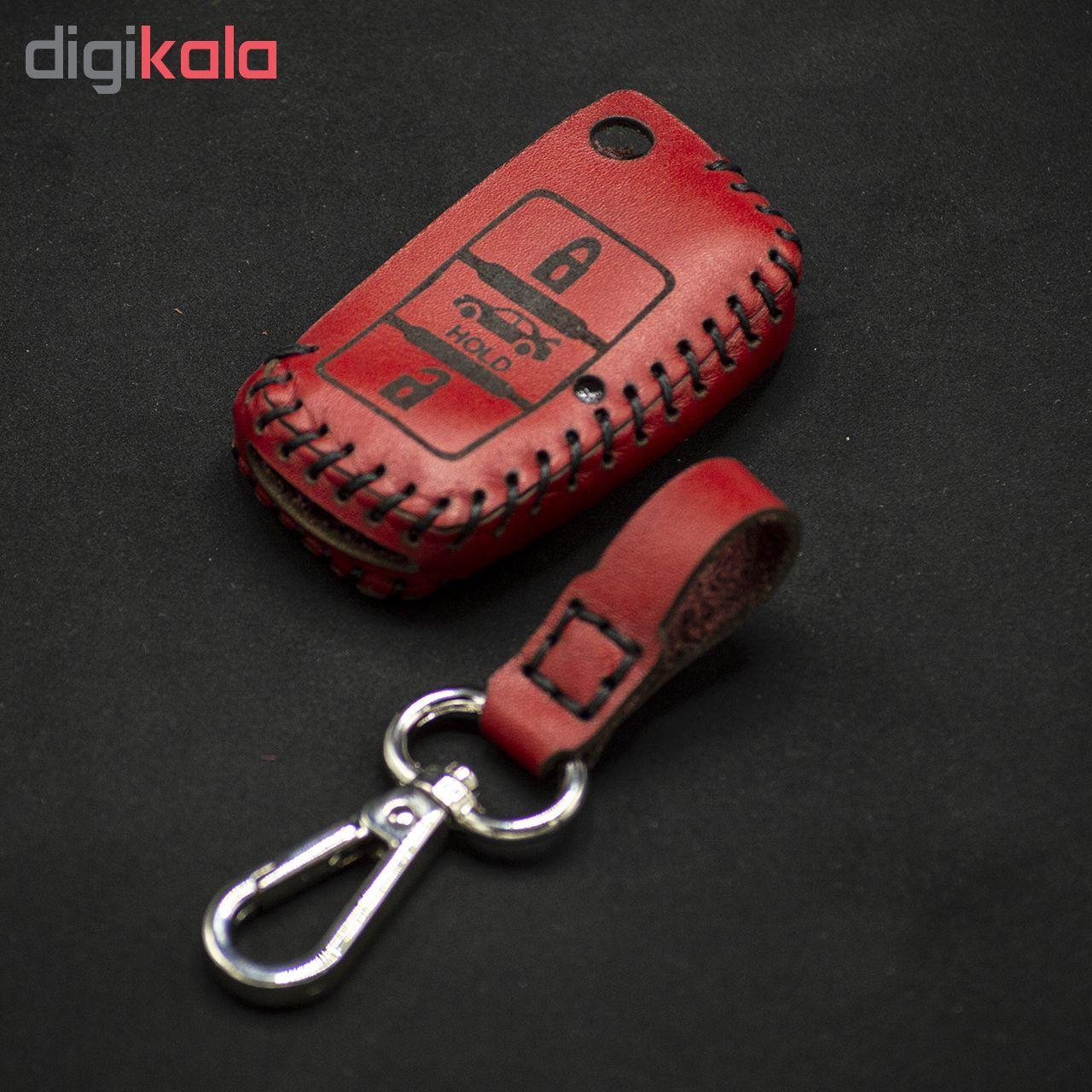 جاسوئیچی خودرو چرم طبیعی کد ct-074 مناسب برای سمند کلید تاشو (عرضه کالا) main 1 2