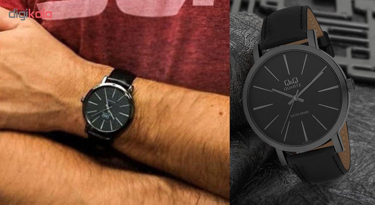 ساعت مچی عقربه ای مردانه کیو اند کیو مدل q892j532y  به همراه دستمال مخصوص برند کلین واچ