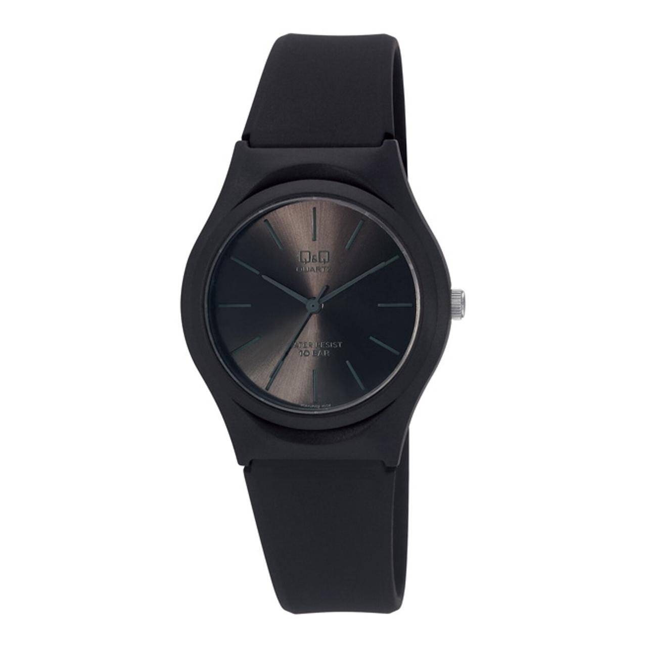 ساعت مچی عقربه ای زنانه کیو اند کیو مدل vq86j022y  به همراه دستمال مخصوص برند کلین واچ