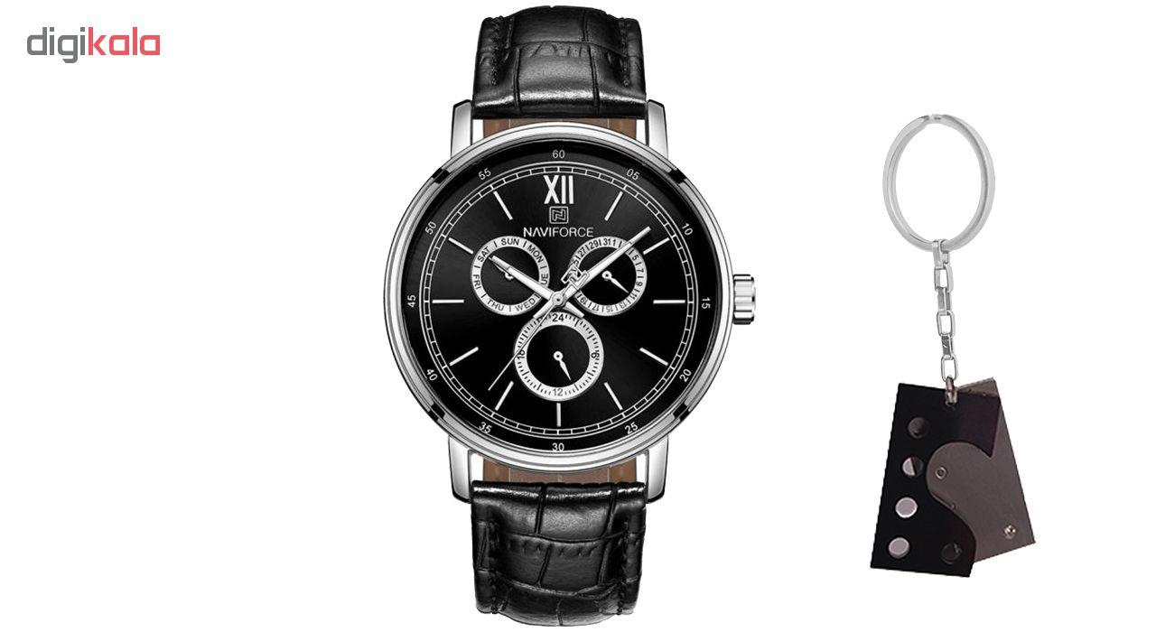 خرید ساعت مچی عقربه ای مردانه نیوی فورس مدل NF3002SB