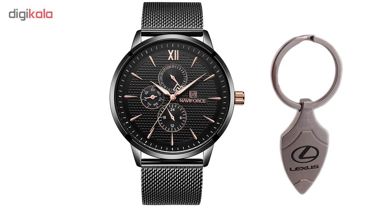 خرید ساعت مچی عقربه ای مردانه نیوی فورس مدل NF3003GB